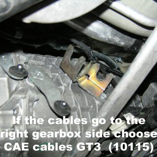 CAE Gearshift cable Kit / Porsche 997 Carrera
