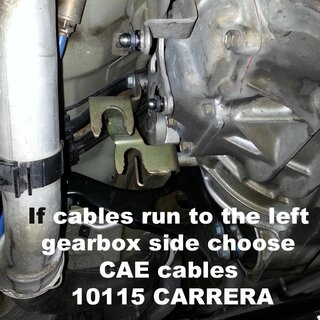 CAE Gearshift cable Kit / Porsche 996 & 997 GT3